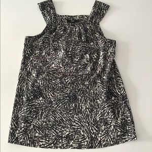Mossimo black/grey blouse layered front size XS